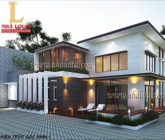 Thiết kế thi công biệt thự 2 tầng kiểu châu âu ở Kiên Giang