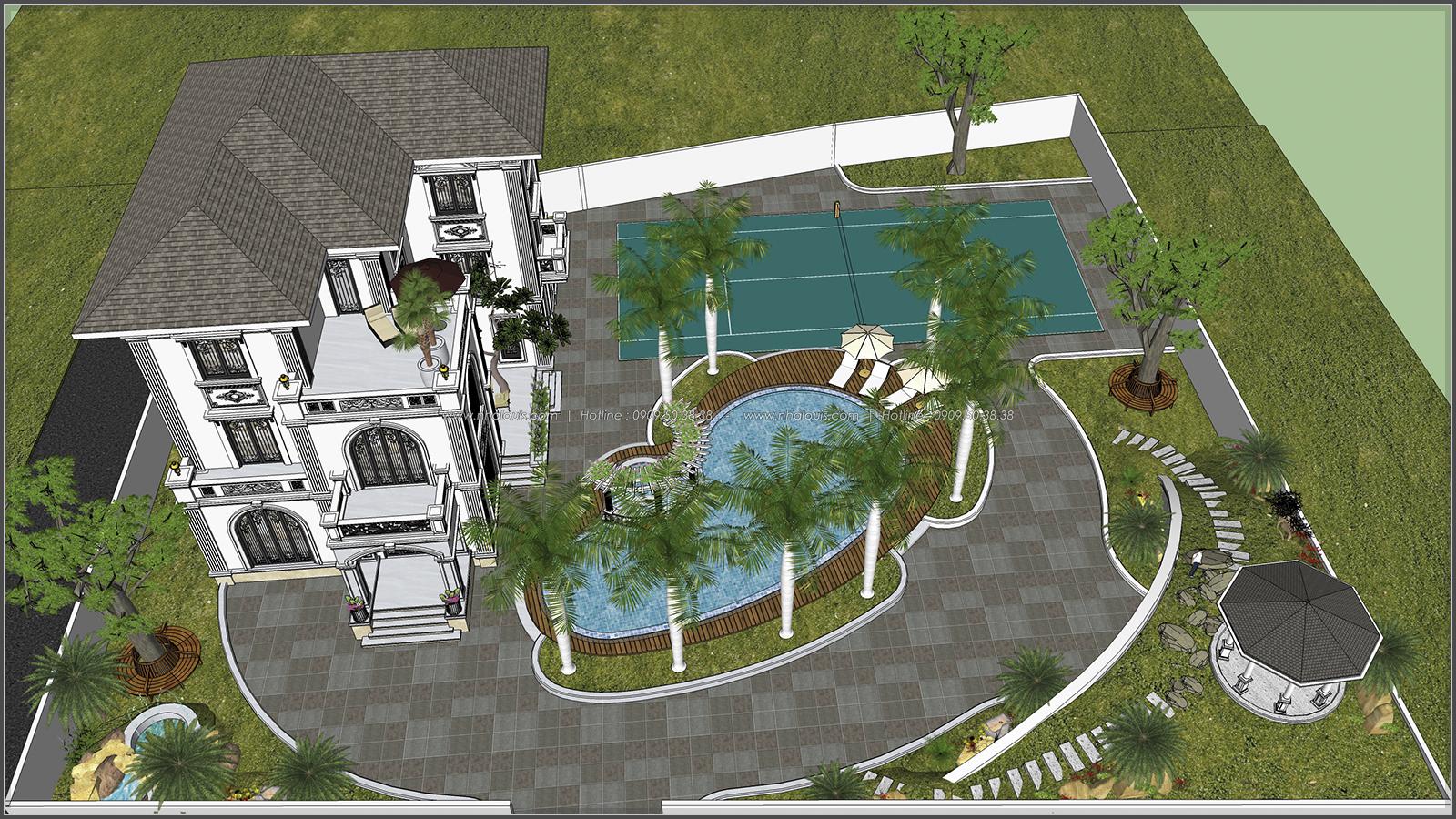 Biệt thự 3 tầng 2 mặt tiền có hồ bơi đẳng cấp tại Củ Chi - 6