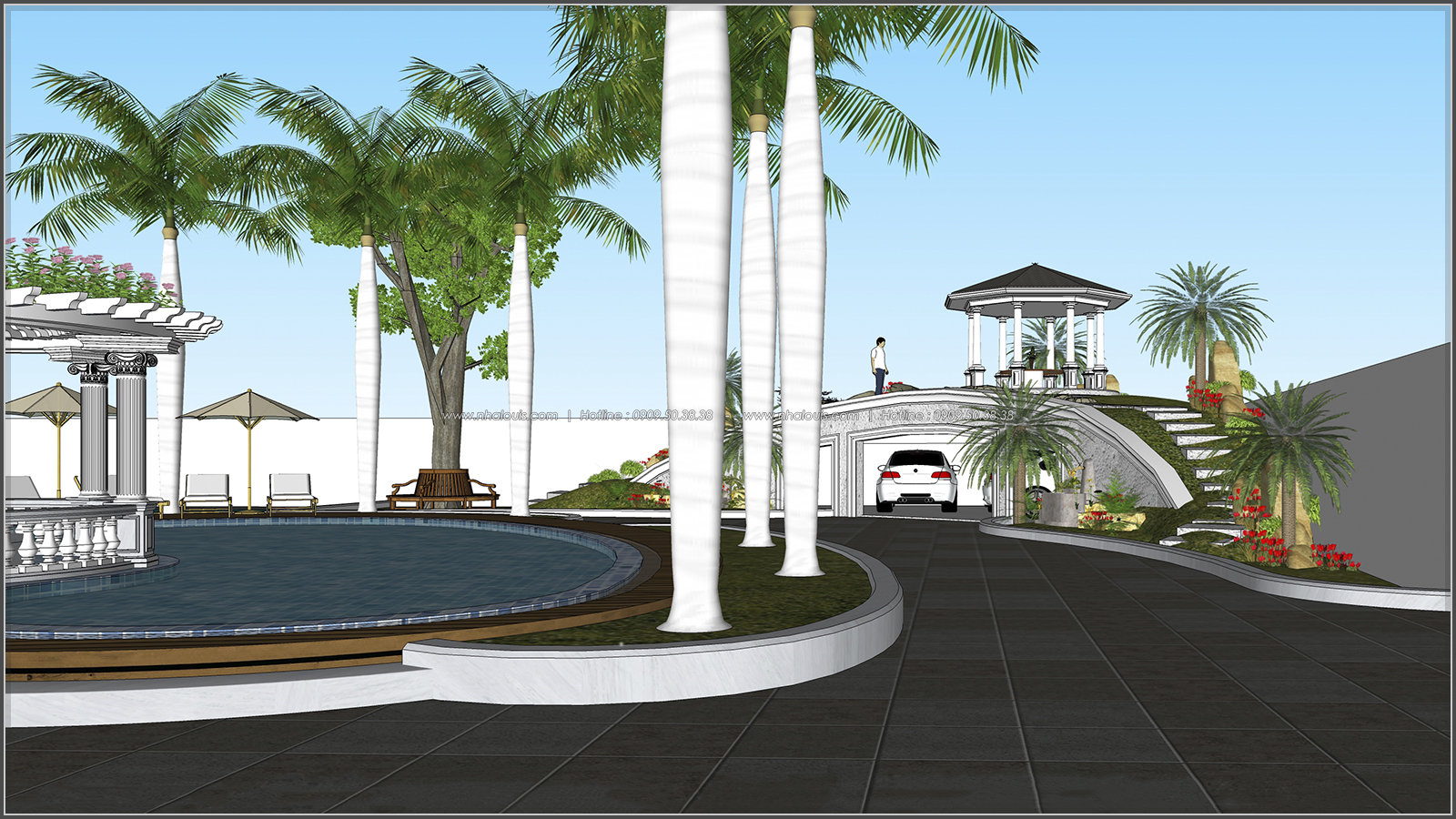Biệt thự 3 tầng 2 mặt tiền có hồ bơi đẳng cấp tại Củ Chi - 9