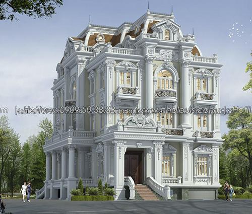 Biệt thự kiểu pháp đẹp 3 mặt tiền bề thế và sang trọng tại Thủ Đức