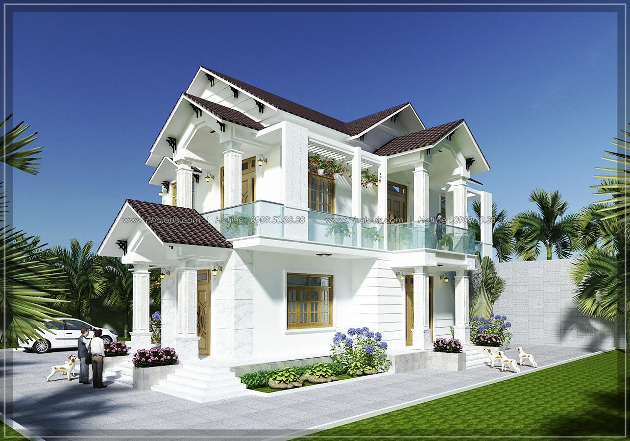 Thiết kế biệt thự mái ngói Á Đông ở Khánh Hòa