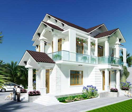 Biệt thự mái ngói phong cách á đông ở Khánh Hòa
