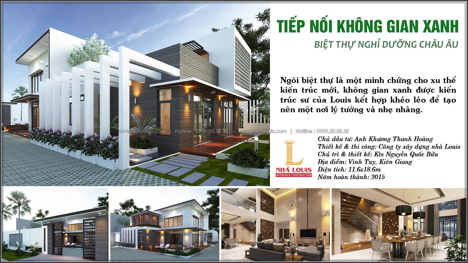 Biệt thự vườn 2 tầng 3 phòng ngủ tại Kiên Giang đẹp hiện đại, tinh tế - 1