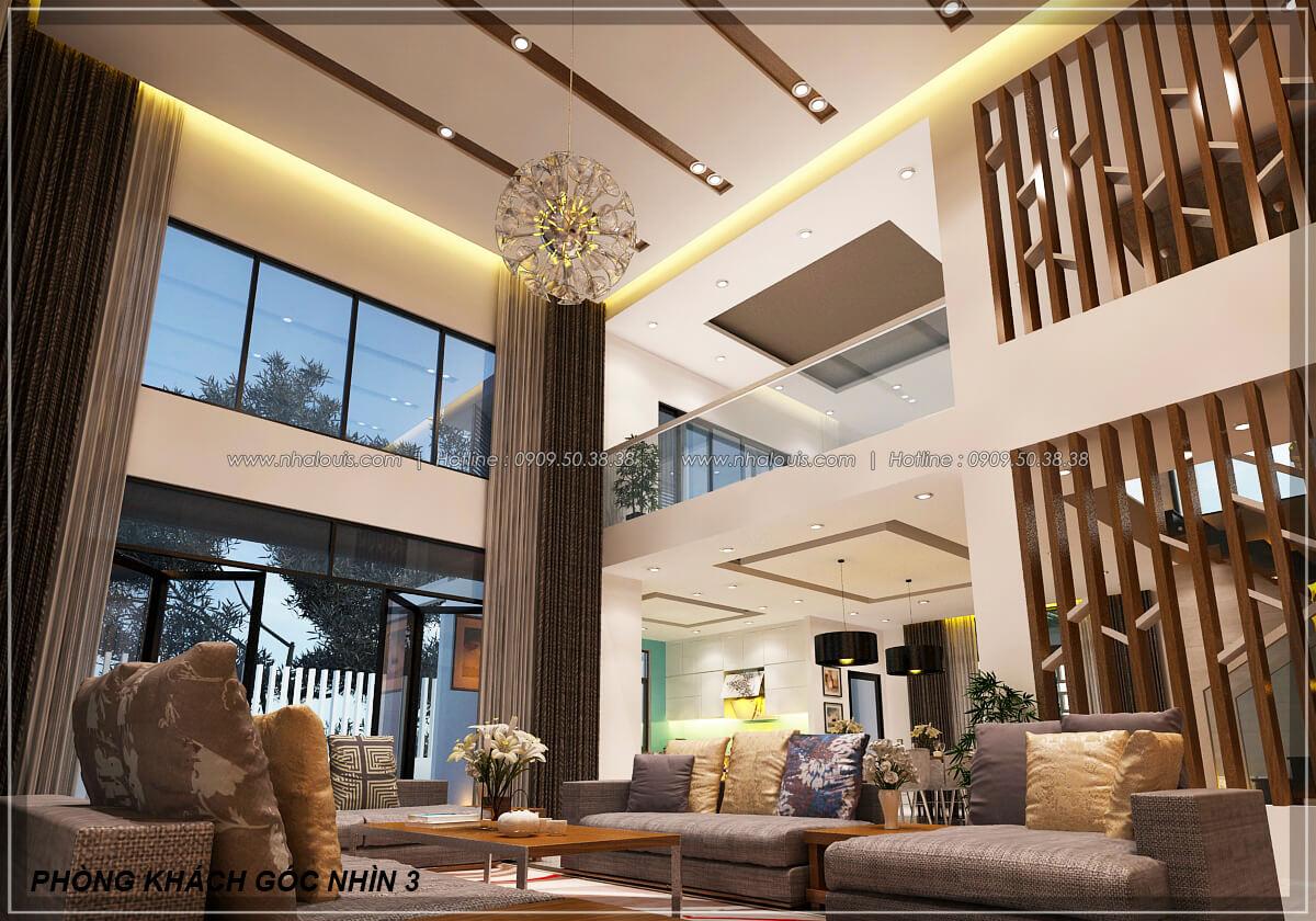 Phòng khách Biệt thự nhà vườn 2 tầng 3 phòng ngủ tại Kiên Giang đẹp hiện đại, tinh tế - 10