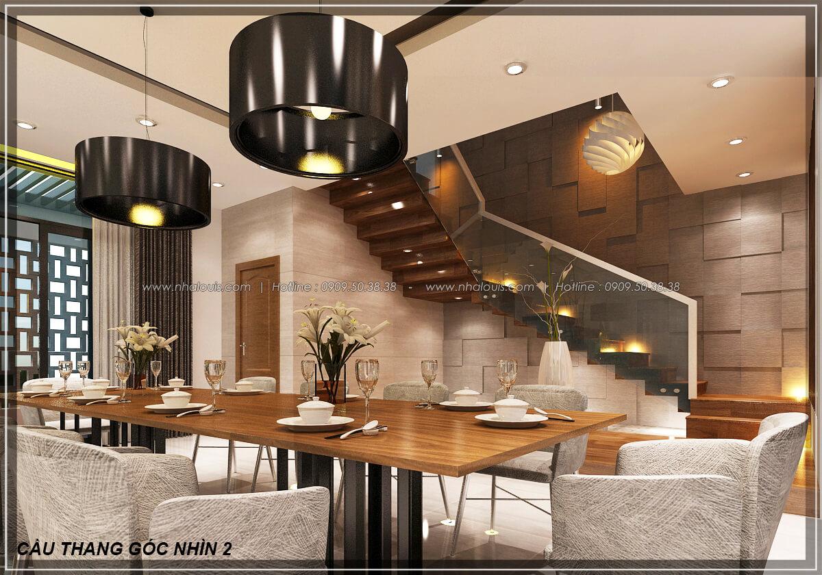 Phòng ăn Biệt thự nhà vườn 2 tầng 3 phòng ngủ tại Kiên Giang đẹp hiện đại, tinh tế - 12