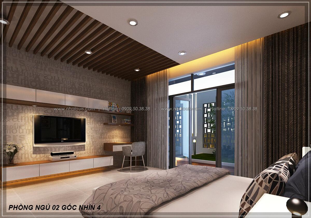 Phòng ngủ Biệt thự nhà vườn 2 tầng 3 phòng ngủ tại Kiên Giang đẹp hiện đại, tinh tế - 16