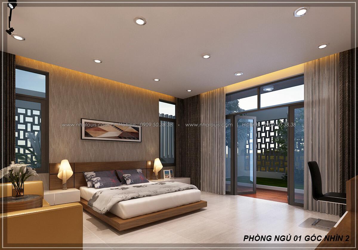 Phòng ngủ Biệt thự nhà vườn 2 tầng 3 phòng ngủ tại Kiên Giang đẹp hiện đại, tinh tế - 17