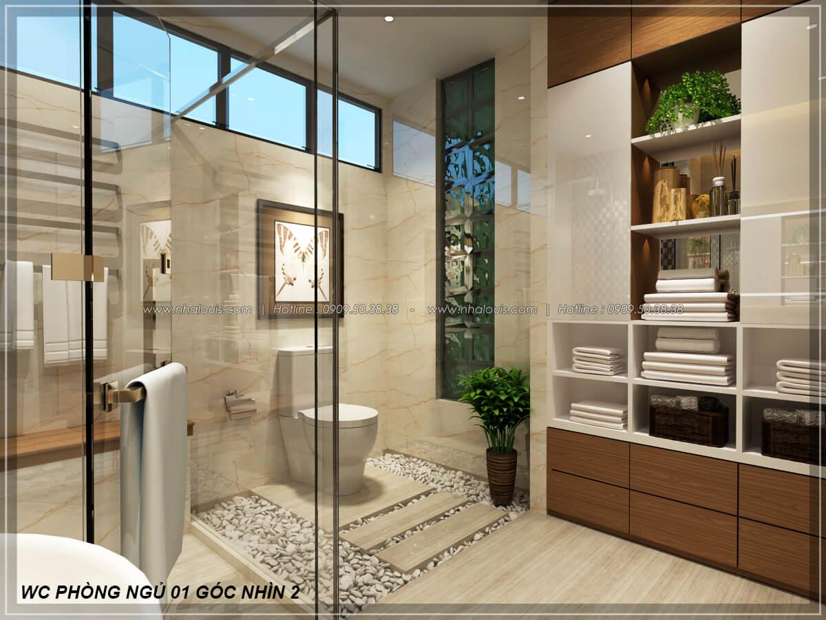 Phòng tắm và WC Biệt thự nhà vườn 2 tầng 3 phòng ngủ tại Kiên Giang đẹp hiện đại, tinh tế - 20