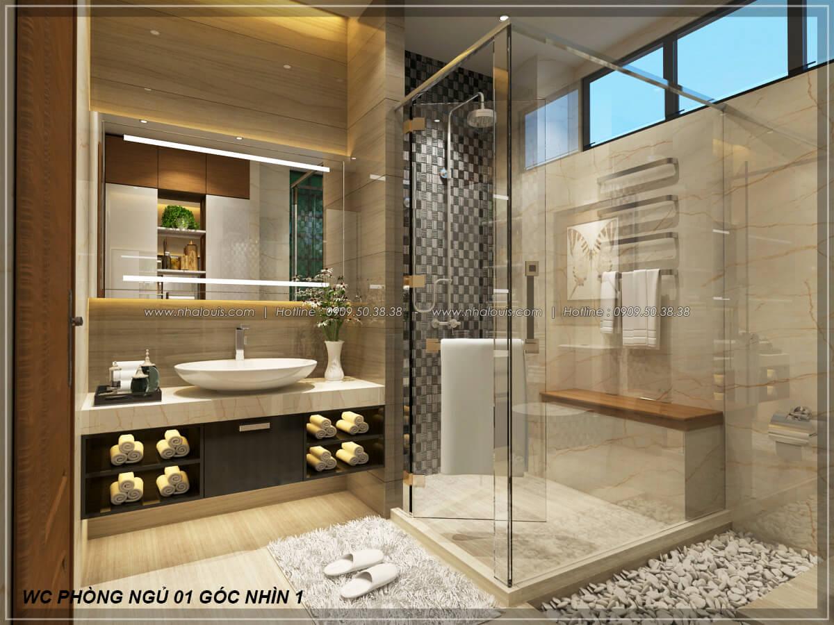 Phòng tắm và WC Biệt thự nhà vườn 2 tầng 3 phòng ngủ tại Kiên Giang đẹp hiện đại, tinh tế - 21