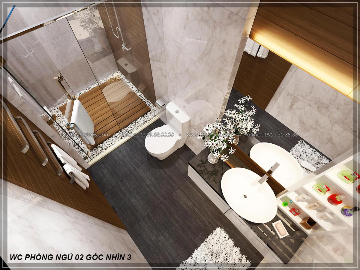 Phòng tắm và WC Biệt thự nhà vườn 2 tầng 3 phòng ngủ tại Kiên Giang đẹp hiện đại, tinh tế - 22
