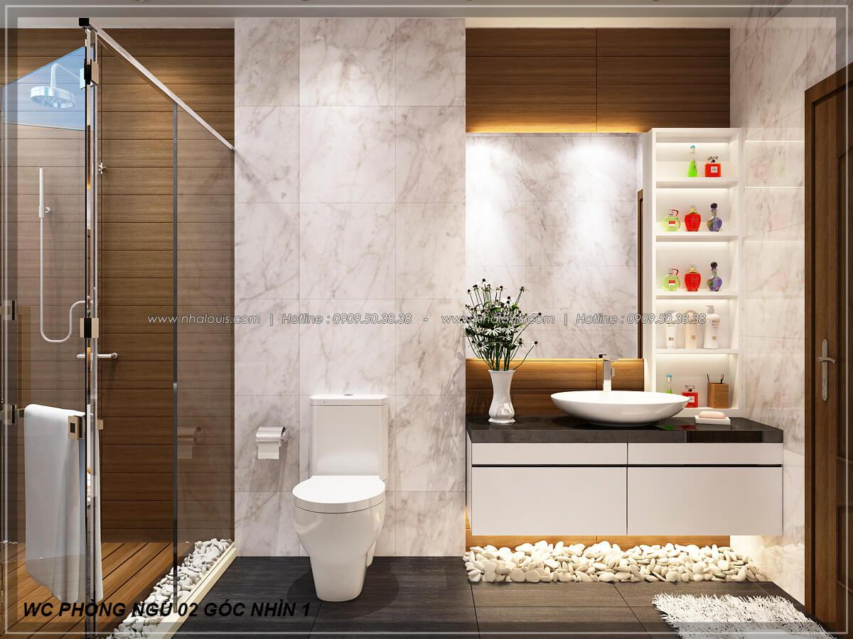 Phòng tắm và WC Biệt thự nhà vườn 2 tầng 3 phòng ngủ tại Kiên Giang đẹp hiện đại, tinh tế - 23