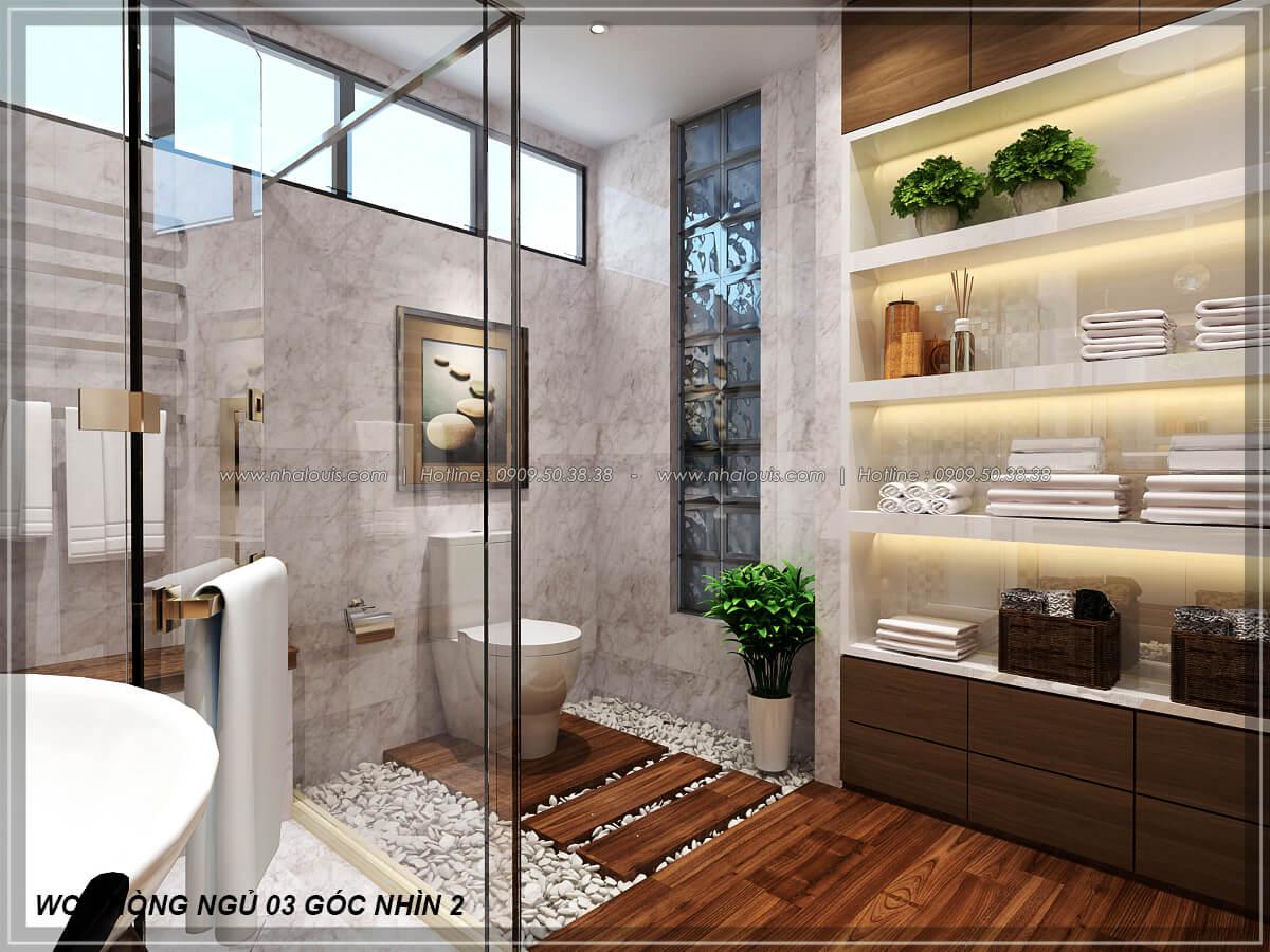 Phòng tắm và WC Biệt thự nhà vườn 2 tầng 3 phòng ngủ tại Kiên Giang đẹp hiện đại, tinh tế - 25