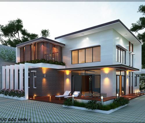 Biệt thự vườn 2 tầng 3 phòng ngủ tại Kiên Giang đẹp hiện đại, tinh tế
