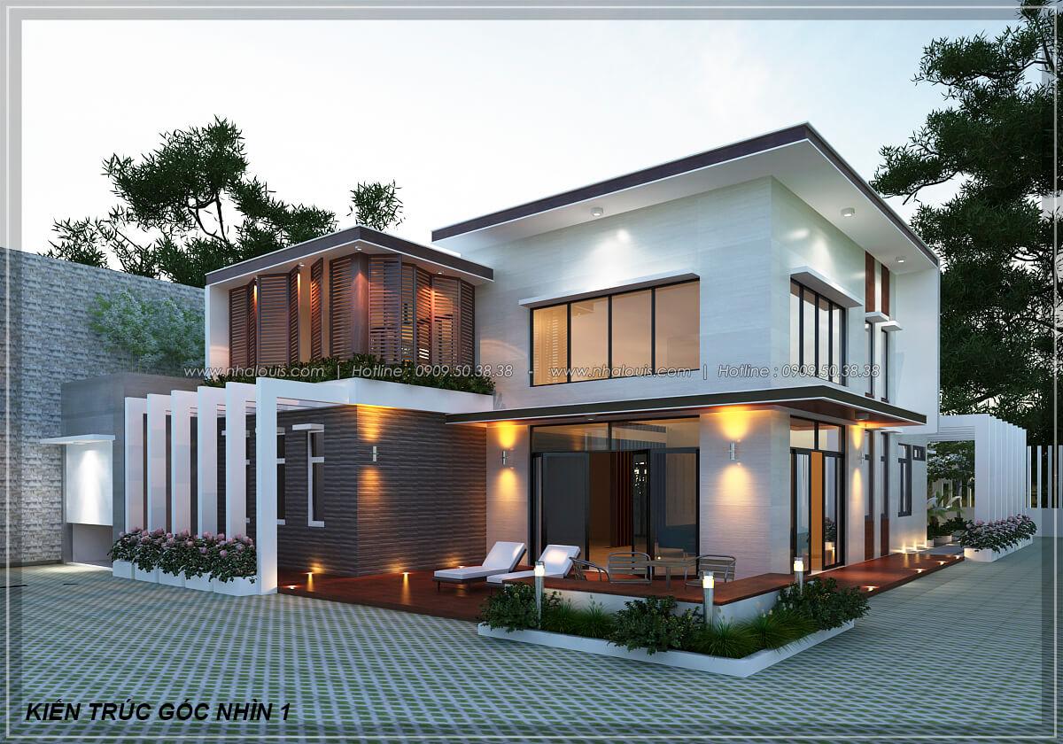 Mặt tiền Biệt thự nhà vườn 2 tầng 3 phòng ngủ tại Kiên Giang đẹp hiện đại, tinh tế - 9