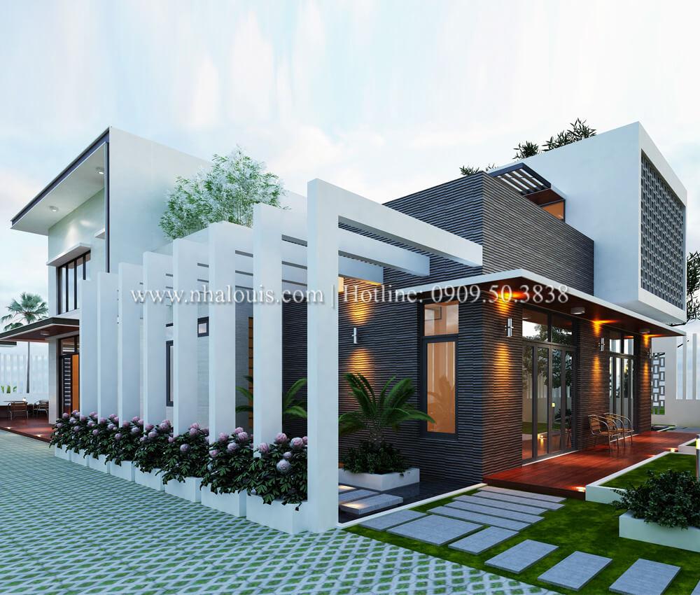 Biệt thự nhà vườn 2 tầng 3 phòng ngủ tại Kiên Giang đẹp hiện đại, tinh tế