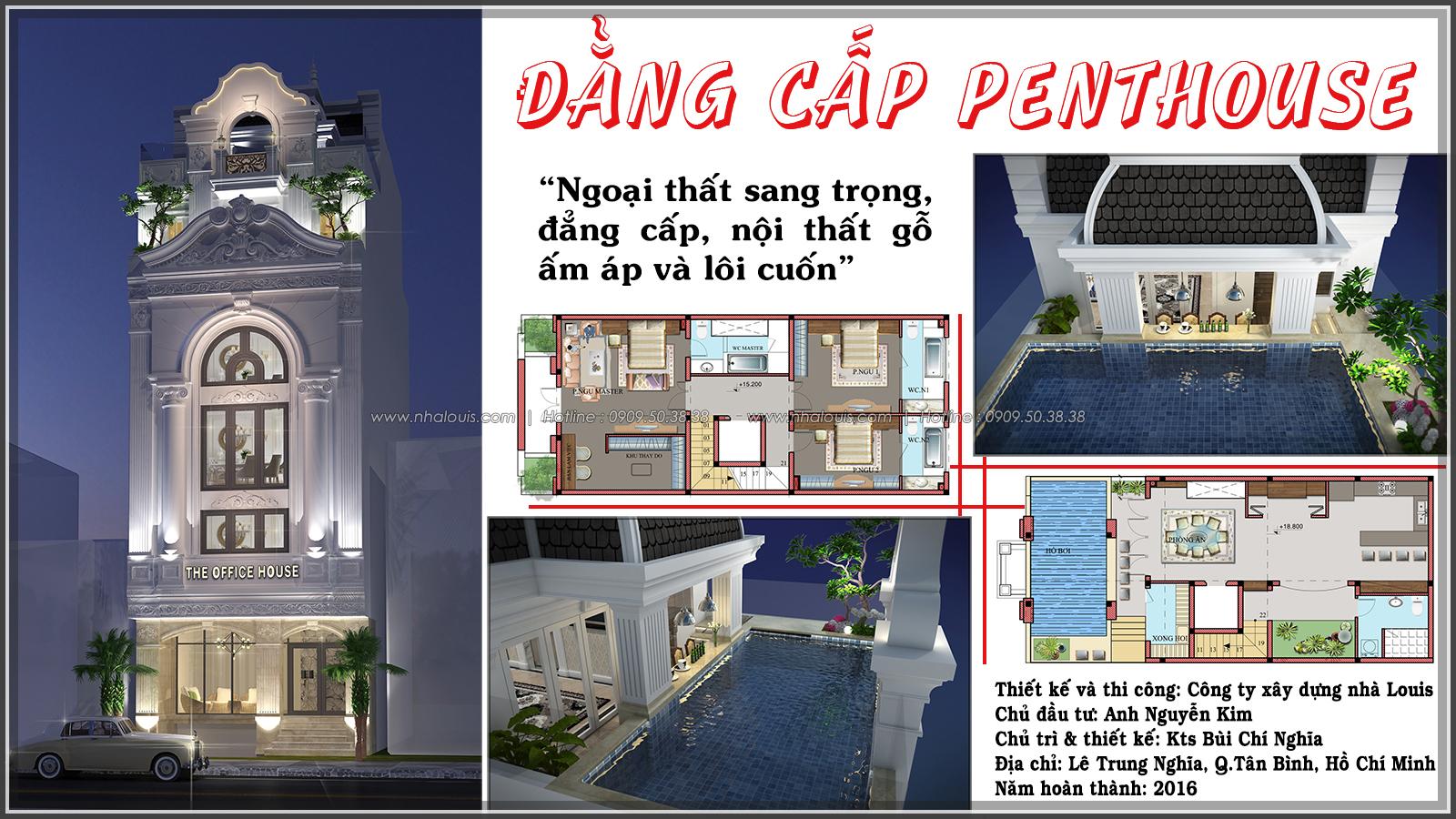 Thiết kế biệt thự có hồ bơi trên sân thượng độc đáo tại Quận Tân Bình - 01