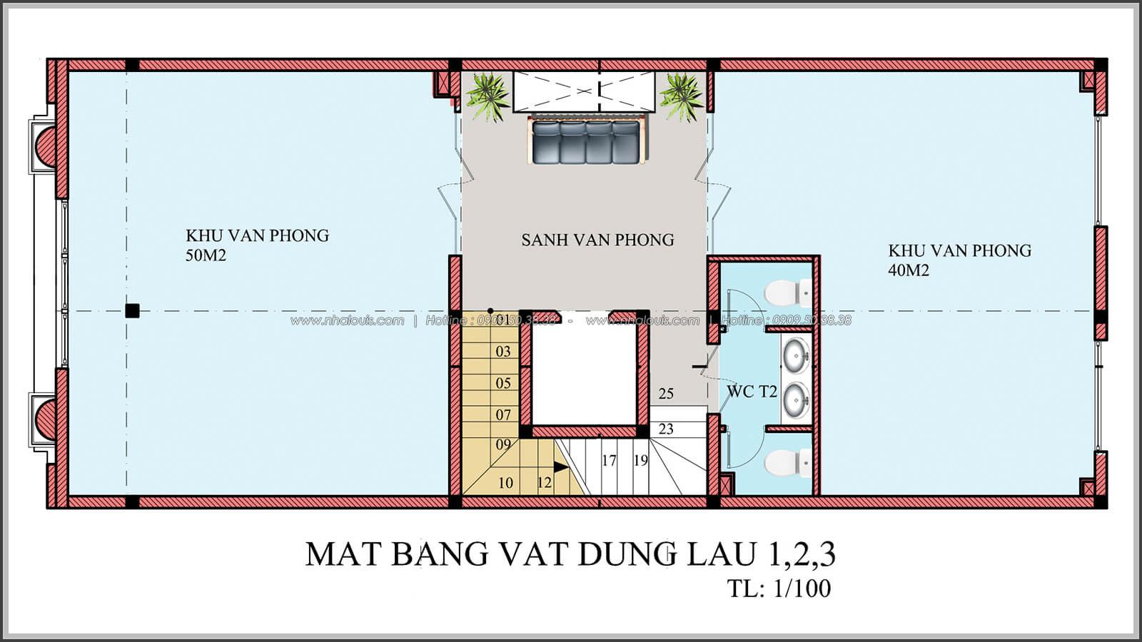Mặt bằng tầng 1, tầng 2, tầng 3 thiết kế penthouses với nội thất cực chất anh Kim quận Tân Bình - 10