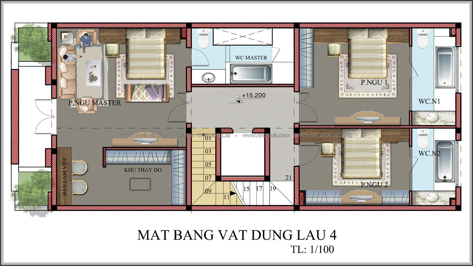 Đẳng cấp thiết kế penthouse với nội thất cực chất anh Kim quận Tân Bình - 11