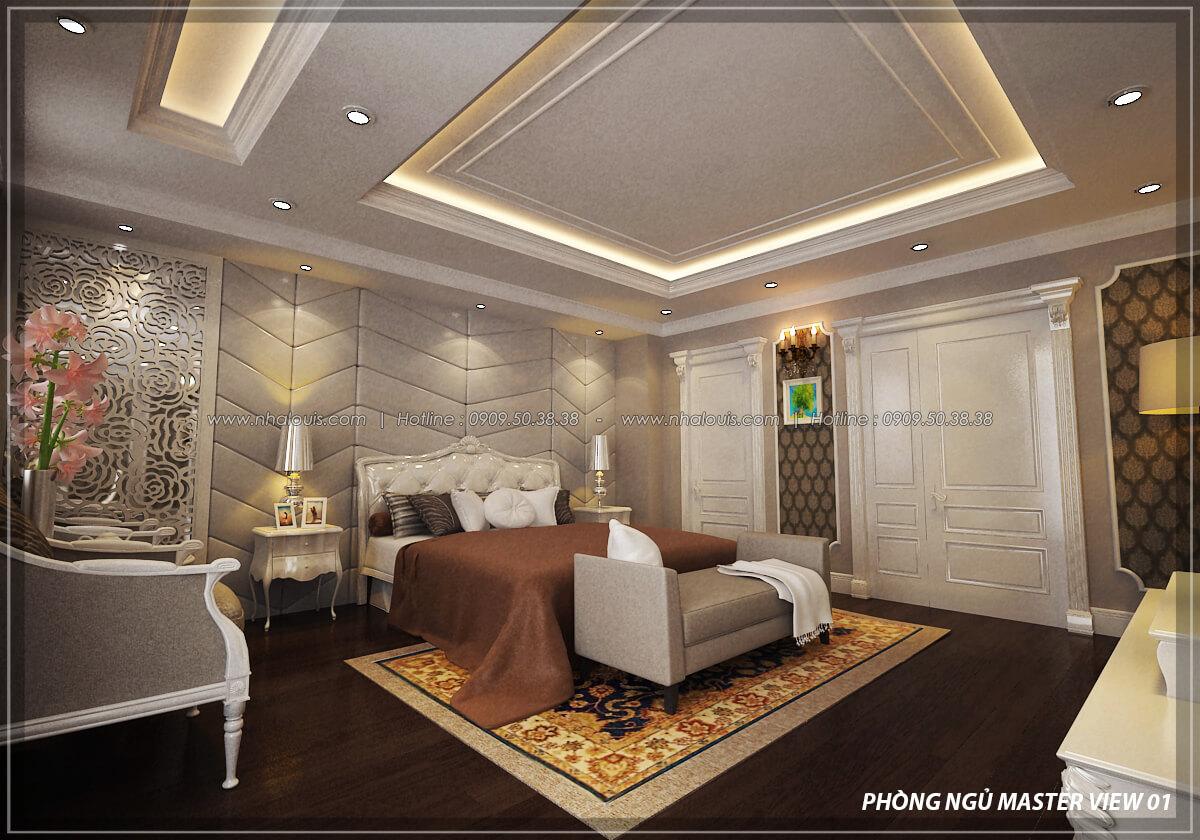 Phòng ngủ master thiết kế penthouses với nội thất cực chất anh Kim quận Tân Bình - 12