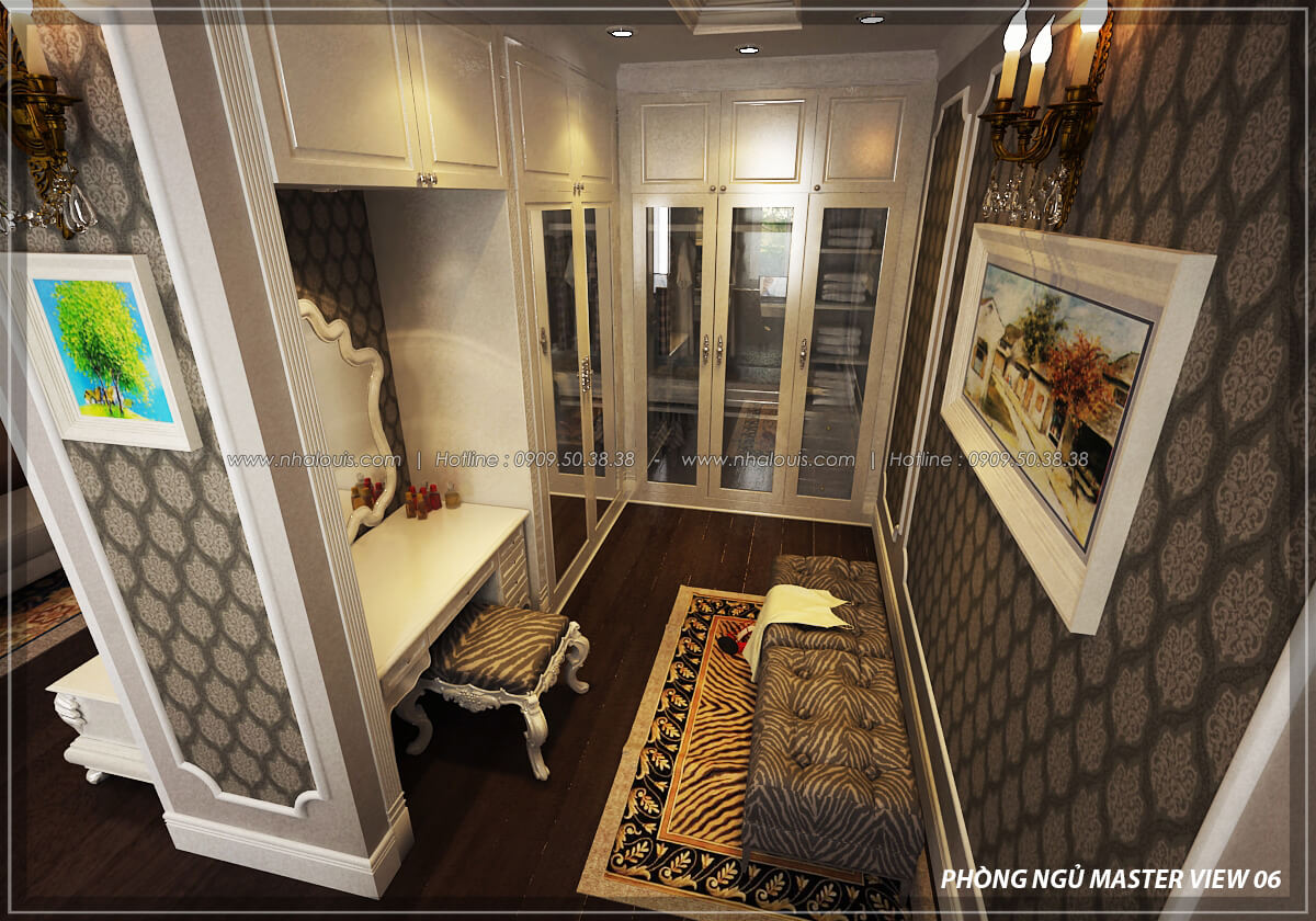 Phòng ngủ master Đẳng cấp thiết kế penthouses với nội thất cực chất anh Kim quận Tân Bình - 17