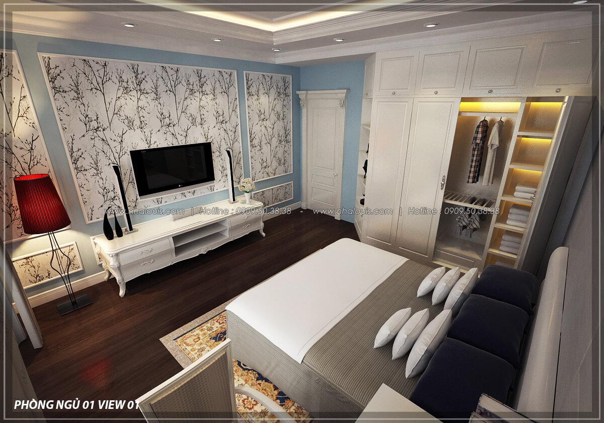 Phòng ngủ Đẳng cấp thiết kế penthouses với nội thất cực chất anh Kim quận Tân Bình - 18