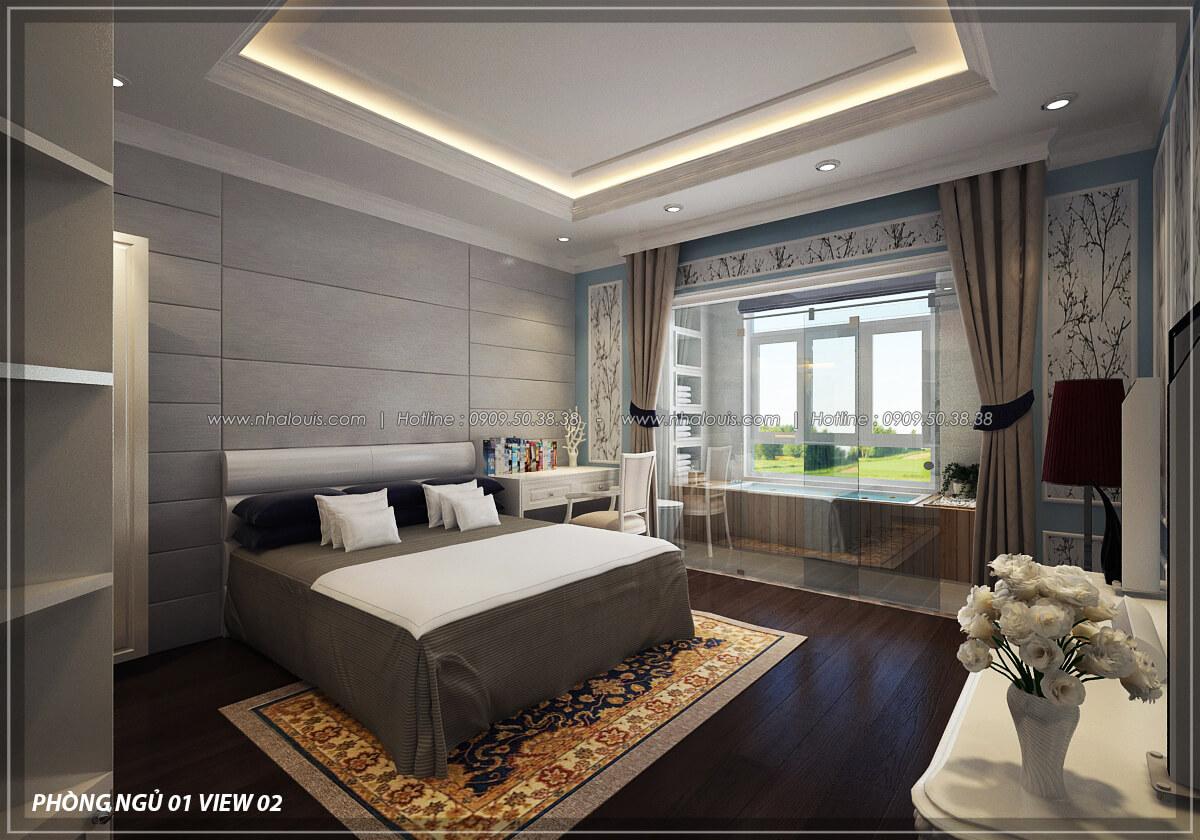 Phòng ngủ Đẳng cấp thiết kế penthouses với nội thất cực chất anh Kim quận Tân Bình - 19