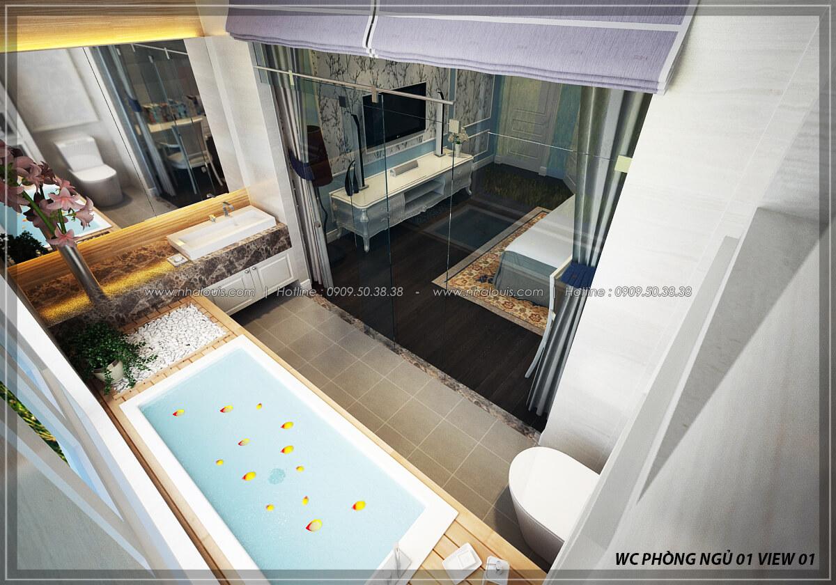 Phòng tắm và WC thiết kế penthouses với nội thất cực chất anh Kim quận Tân Bình - 21