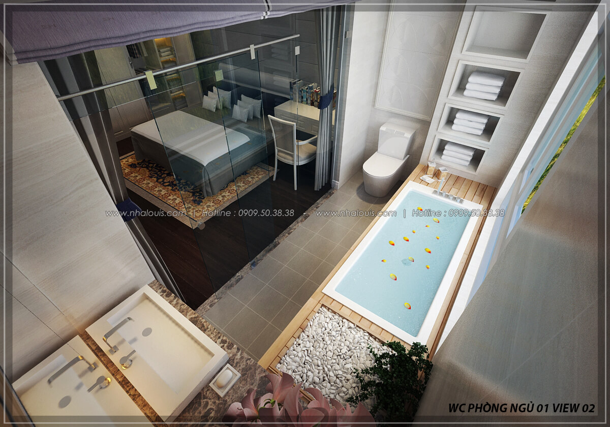 Phòng tắm và WC thiết kế penthouses với nội thất cực chất anh Kim quận Tân Bình - 22