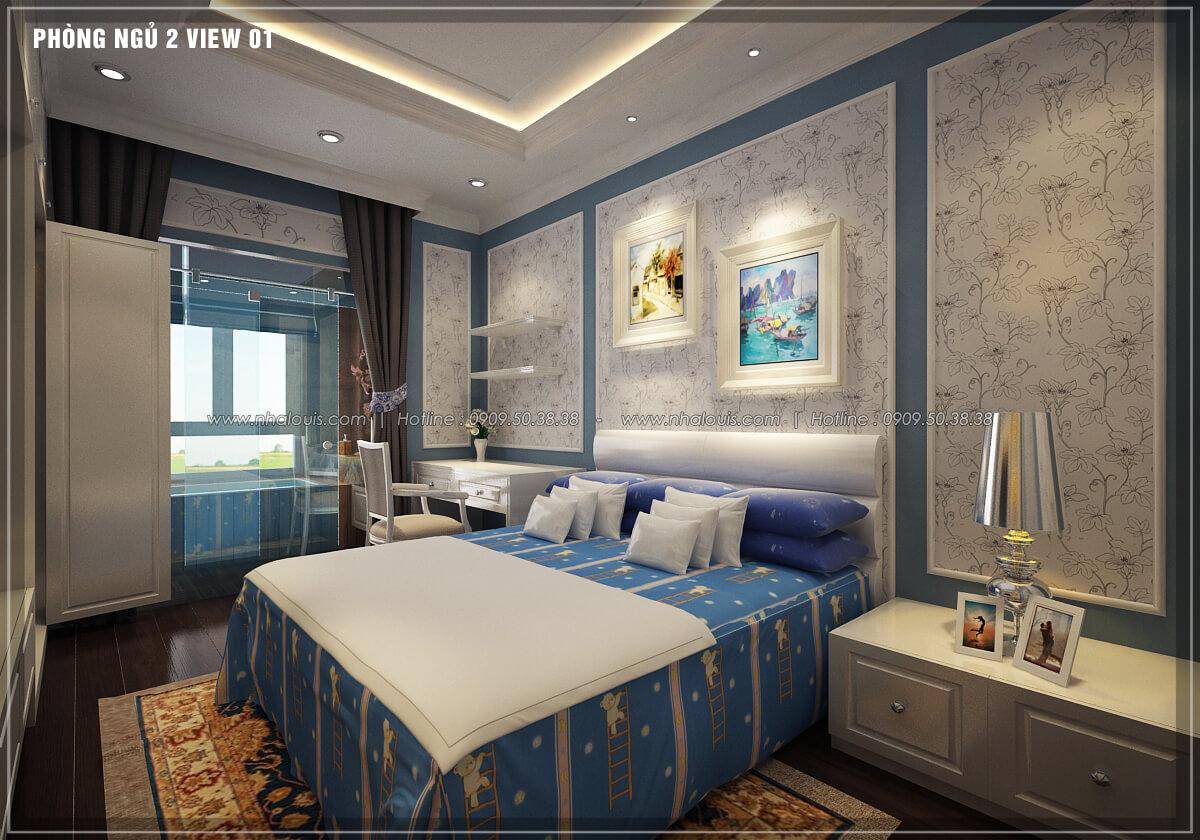 Phòng ngủ thiết kế penthouses với nội thất cực chất anh Kim quận Tân Bình - 23