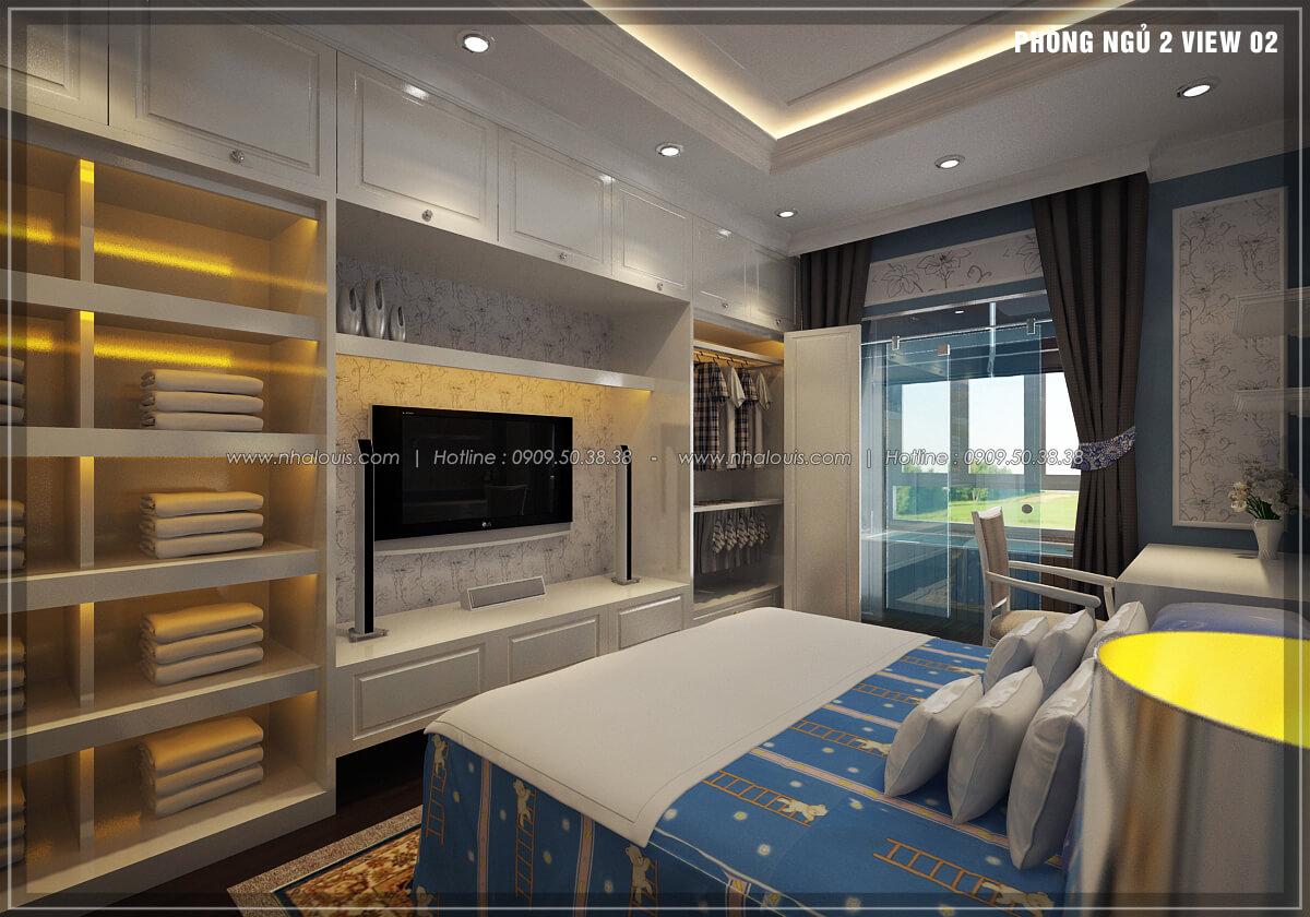 Phòng ngủ thiết kế penthouses với nội thất cực chất anh Kim quận Tân Bình - 24