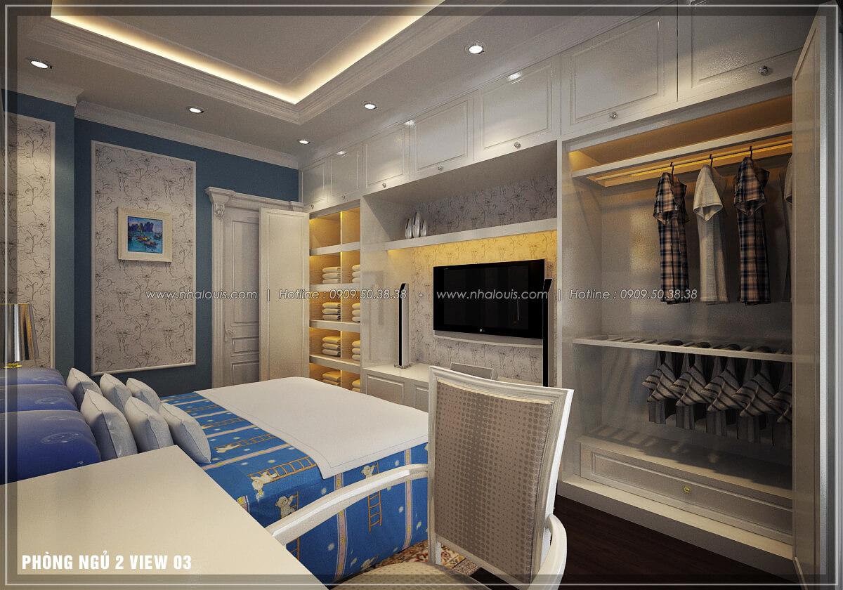 Phòng ngủ thiết kế penthouses với nội thất cực chất anh Kim quận Tân Bình - 25