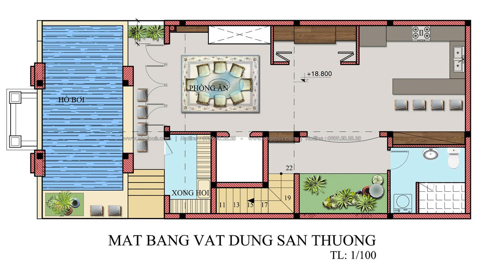 Mặt bằng sân thượng thiết kế penthouses với nội thất cực chất anh Kim quận Tân Bình - 26