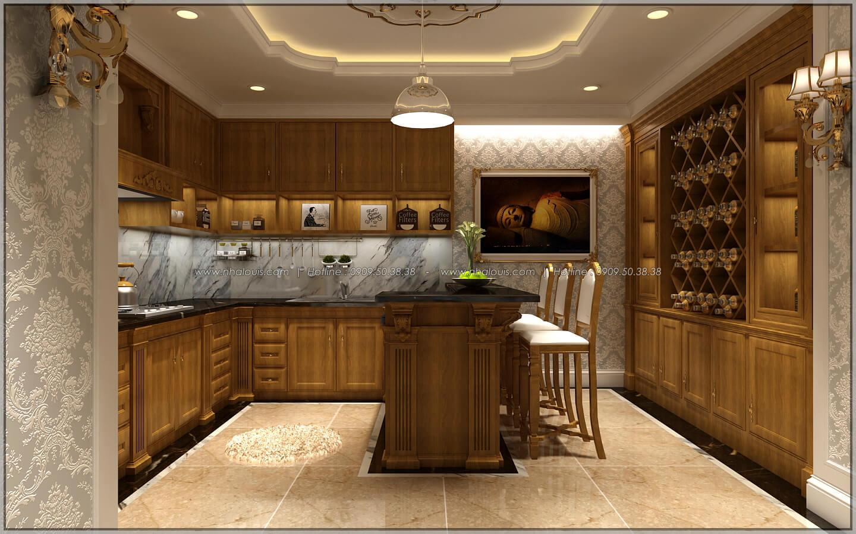 Phòng bếp và quầy bar thiết kế penthouses với nội thất cực chất anh Kim quận Tân Bình - 27