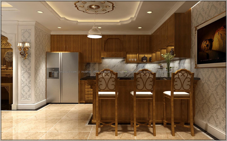 Phòng bếp và quầy bar thiết kế penthouses với nội thất cực chất anh Kim quận Tân Bình - 28