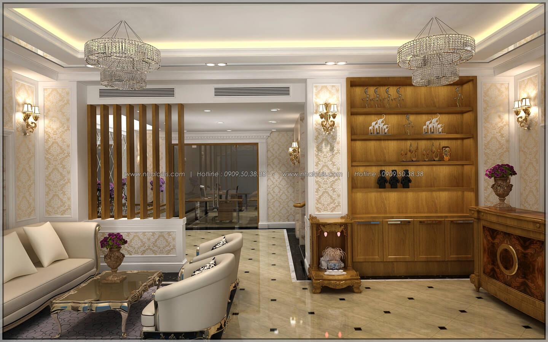 Sảnh tiếp khách thiết kế penthouses với nội thất cực chất anh Kim quận Tân Bình - 5