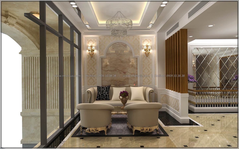 Sảnh tiếp khách thiết kế penthouses với nội thất cực chất anh Kim quận Tân Bình - 6