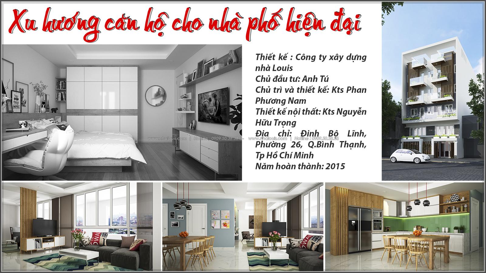 Nhà phố đẹp 4 tầng kinh doanh phòng trọ tại Bình Thạnh - 01