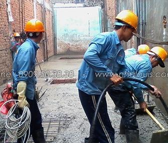 Đổ bê tông sàn nhà ống mặt phố đẹp Tân Bình