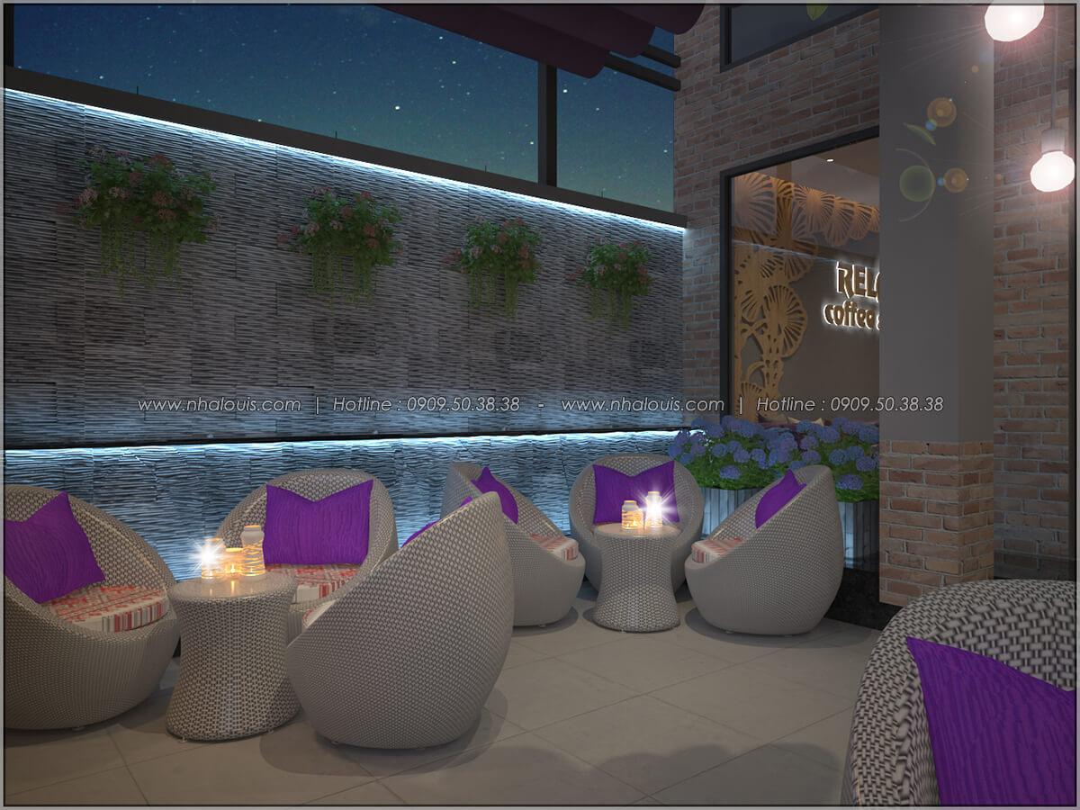 Không gian bên ngoài thiết kế quán cafe đơn giản từ nhà phố 3 tầng tại Bình Chánh - 04