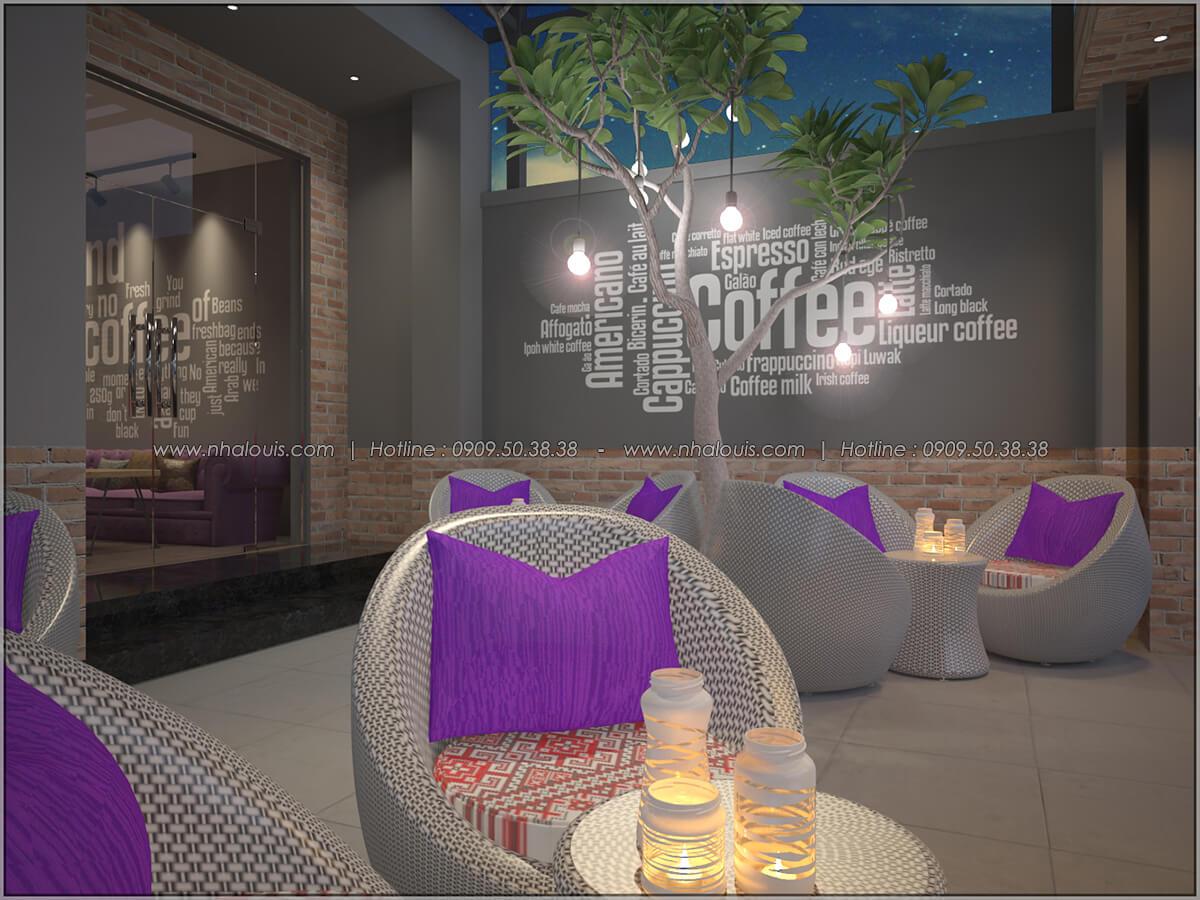 Không gian bên ngoài thiết kế quán cafe đơn giản từ nhà phố 3 tầng tại Bình Chánh - 05