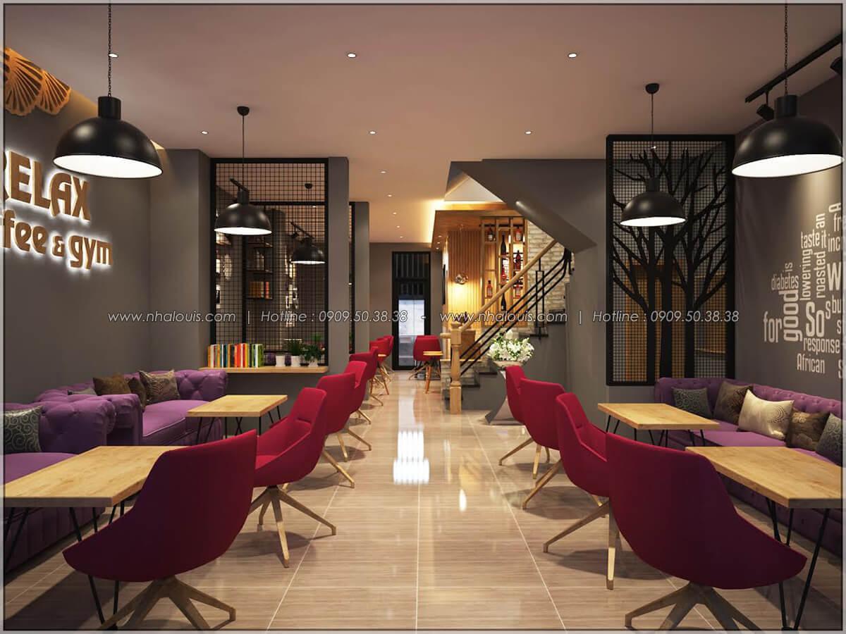 Không gian bên trong thiết kế quán cafe đơn giản từ nhà phố 3 tầng tại Bình Chánh - 06