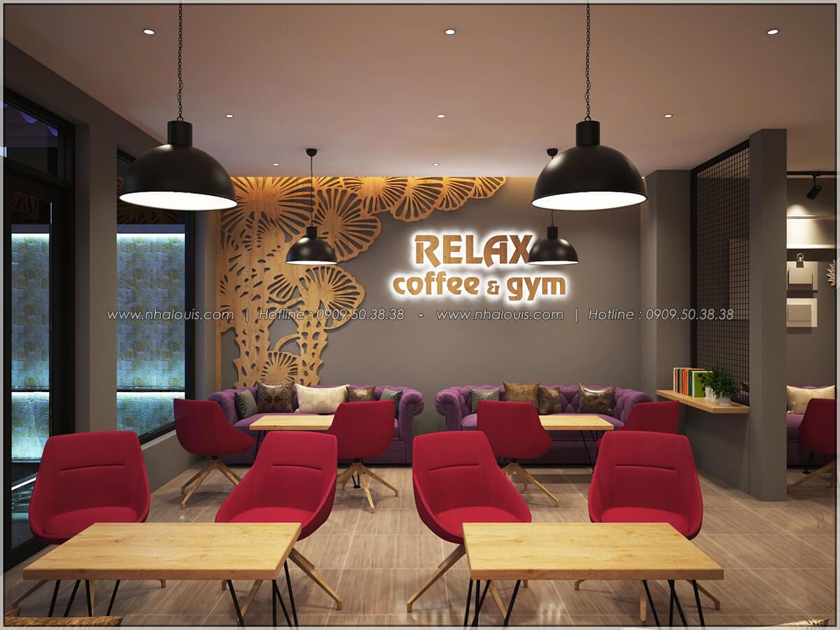 Không gian bên trong thiết kế quán cafe đơn giản từ nhà phố 3 tầng tại Bình Chánh - 07