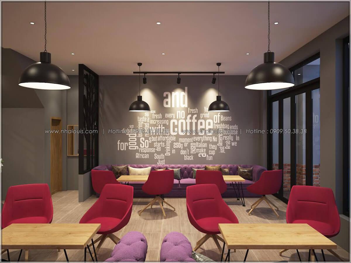 Không gian bên trong thiết kế quán cafe đơn giản từ nhà phố 3 tầng tại Bình Chánh - 08