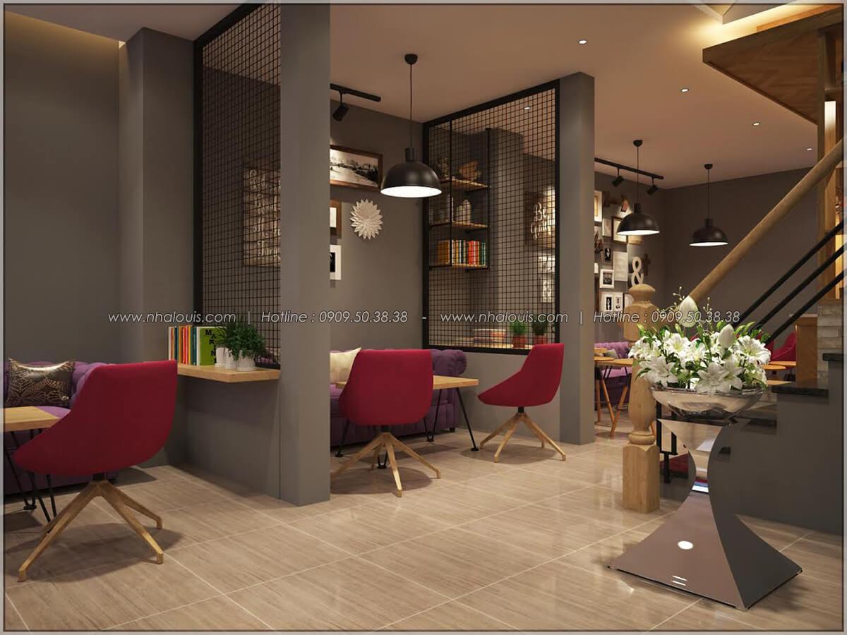 Không gian bên trong thiết kế quán cafe đơn giản từ nhà phố 3 tầng tại Bình Chánh - 09