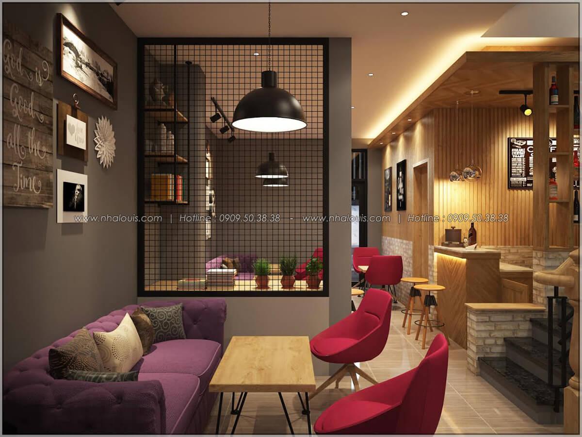 Không gian bên trong thiết kế quán cafe đơn giản từ nhà phố 3 tầng tại Bình Chánh - 10