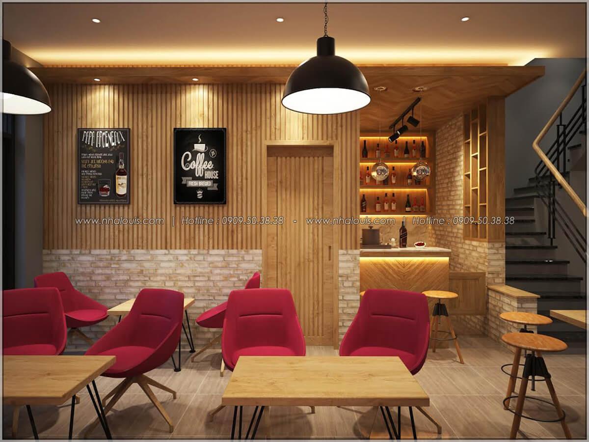 Không gian bên trong thiết kế quán cafe đơn giản từ nhà phố 3 tầng tại Bình Chánh - 11
