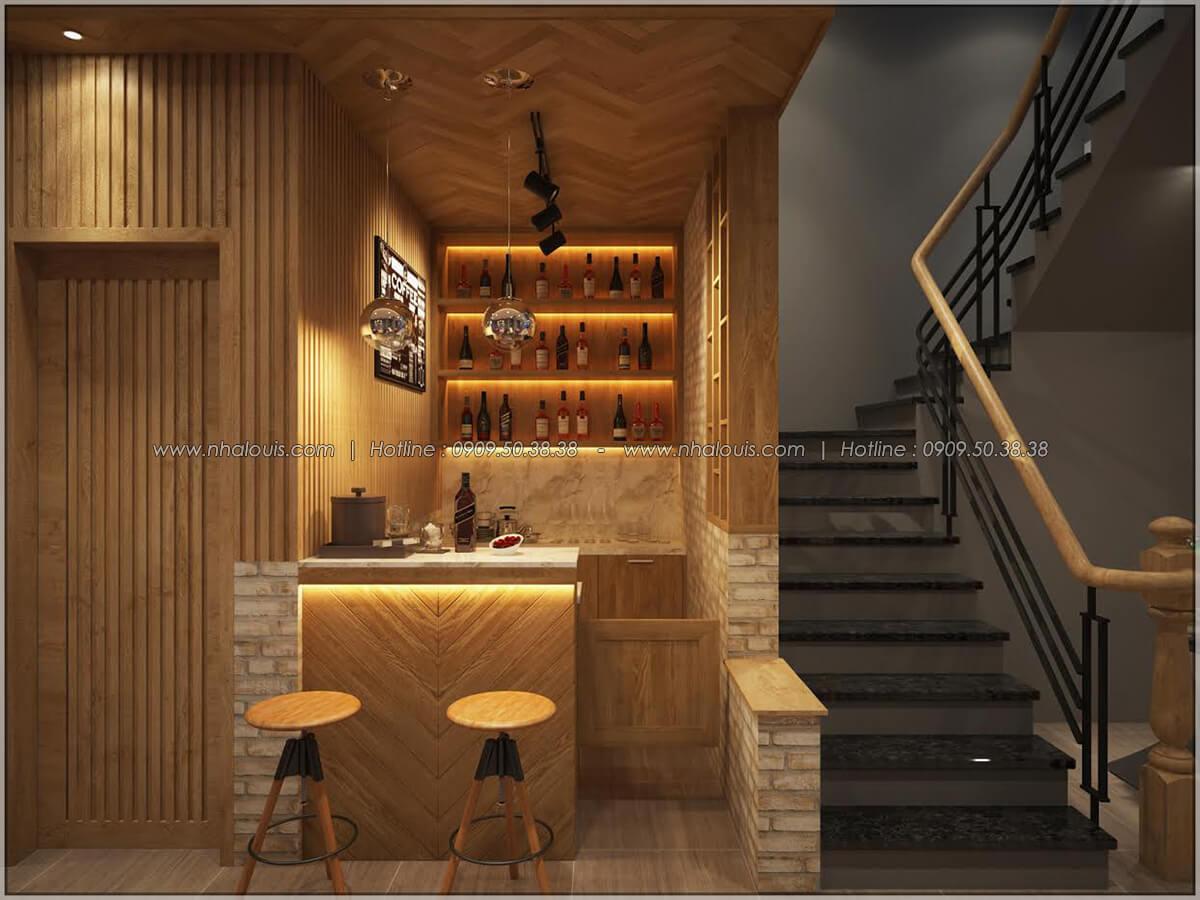 Quầy pha chế thiết kế quán cafe đơn giản từ nhà phố 3 tầng tại Bình Chánh - 12