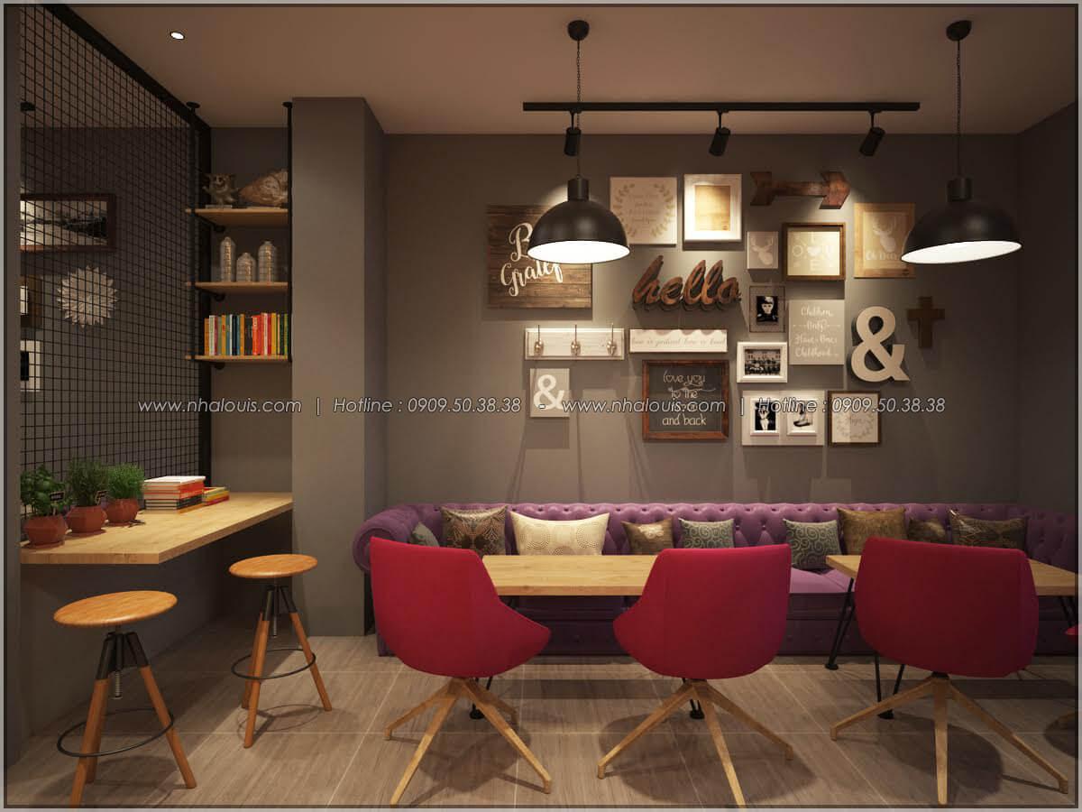 Thiết kế nội thất thiết kế quán cafe đơn giản từ nhà phố 3 tầng tại Bình Chánh - 13