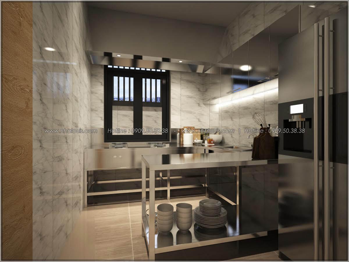 Phòng bếp thiết kế quán cafe đơn giản từ nhà phố 3 tầng tại Bình Chánh - 16