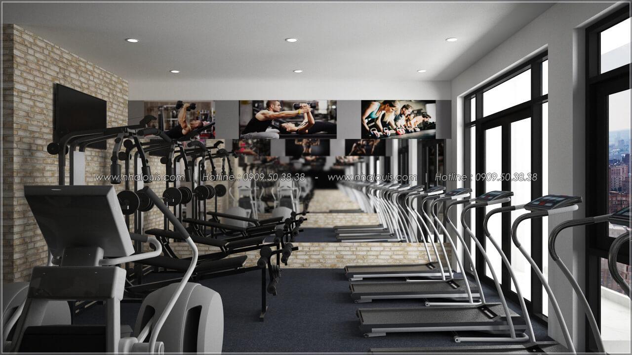 Phòng gym thiết kế quán cafe đơn giản từ nhà phố 3 tầng tại Bình Chánh - 18